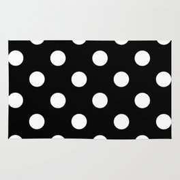 Polkadot (White & Black Pattern) Rug