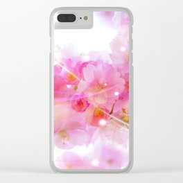 Japanese Sakura Tree with Pastel Pink Blossoms Clear iPhone Case
