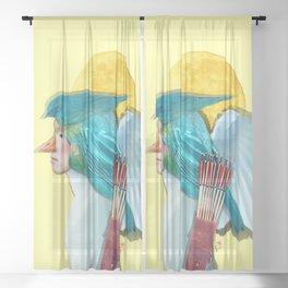 Moon Hunter Sheer Curtain