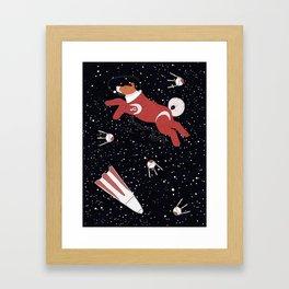 Laika - Space dog Framed Art Print