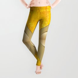 Heart cut out of paper Leggings
