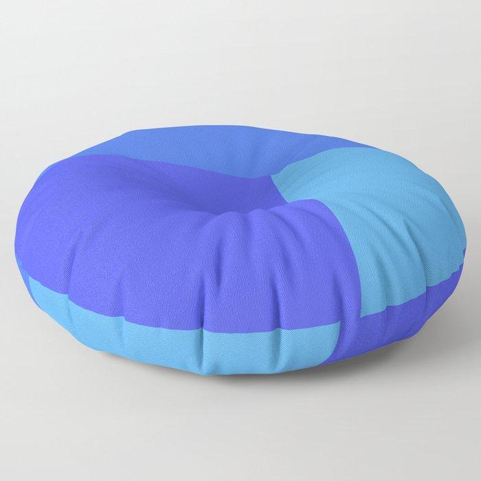 dégradé trapèze bleu roi Floor Pillow