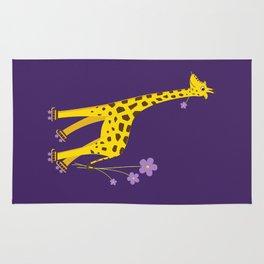 Funny Giraffe Roller Skating Rug