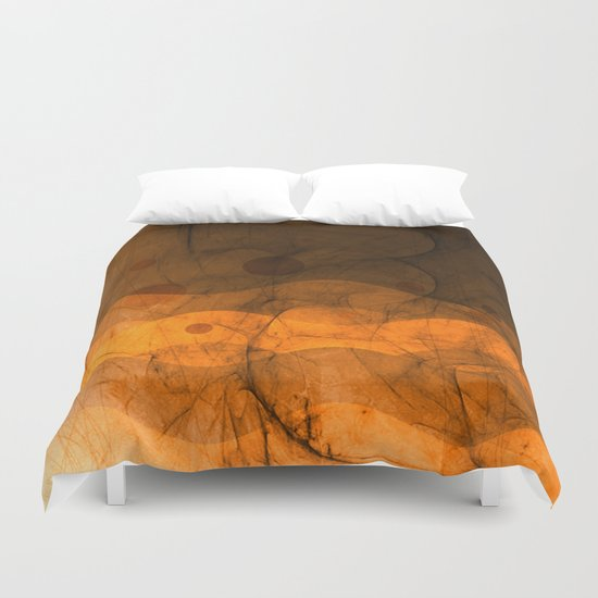 Energy Waves - Sand Version Duvet Cover