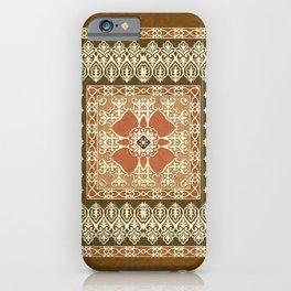 Vintage Delight Square Mandala iPhone Case