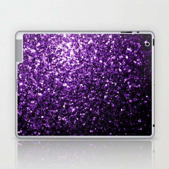 Beautiful Dark Purple glitter sparkles Laptop & iPad Skin