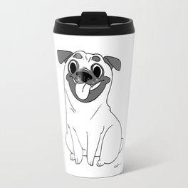 Pug Lineart Travel Mug