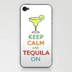 Keep Calm Tequila - white iPhone & iPod Skin