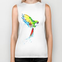 military Biker Tanks featuring Military Macaw by ARealpe
