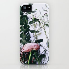 Floral Peeks iPhone Case