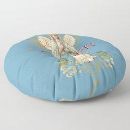Mystical Virgin - Semper Fidelis Floor Pillow