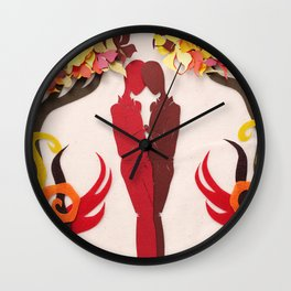 Autumn kiss 1 Wall Clock