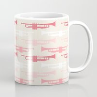 trumpet Mugs featuring Trumpet by Background Labs