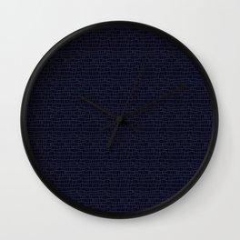 Blue/blackrectangles Wall Clock
