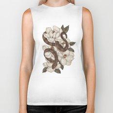 Snake and Magnolias Biker Tank