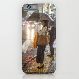 Rain In Shibuya iPhone Case