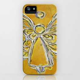 Yellow Guardian Angel iPhone Case