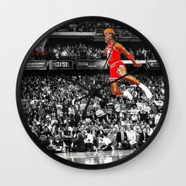 Infamous Jumpman Free Throw Line Dunk Poster Wall Art, MichaelJordan Poster Wall Clock