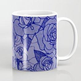 Navy Roses 2 Coffee Mug