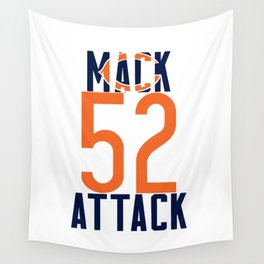Khalil Mack 52 Bears Footbal Wall Tapestry