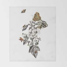 Insect Toile Throw Blanket