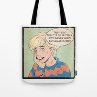 heymonster Tote Bags featuring Nutella  by heymonster