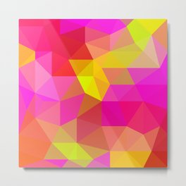 Citrus Candy Low Poly Metal Print