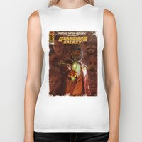 guardians of the galaxy Biker Tanks featuring Guardians of The Galaxy  by Juan Hugo Martinez Illustrations