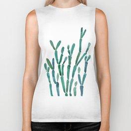 Succulent rhipsalis watercolor Biker Tank