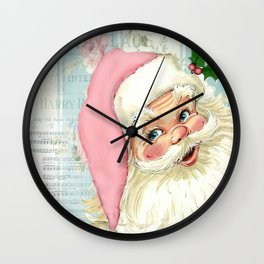 Retro Santa with music Wall Clock