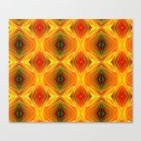 orange pattern Canvas Prints featuring Orange Pattern by Art-Motiva