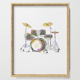 Drumming Is My Passion Music Drums T Shirt Serving Tray