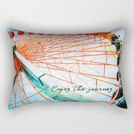 """Enjoy the journey"" giant, colorful carnival ferris wheel Rectangular Pillow"