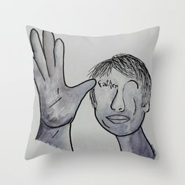 ASL Father in Denim Colors Throw Pillow