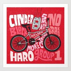 All My Bikes: 9, Haro Group 1 Art Print