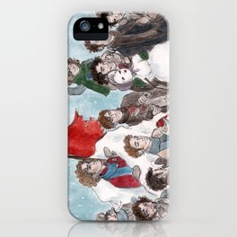 One More Day Before the Snowstorm iPhone Case