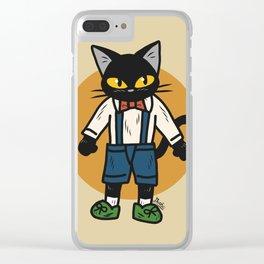 Little boy cat Clear iPhone Case