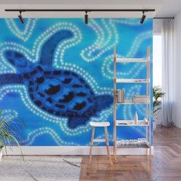 Aboriginal Art - Tortoise (Auowara) Wall Mural