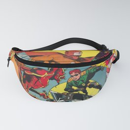Comic Book Collage Fanny Pack