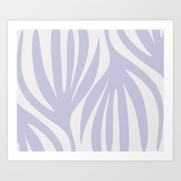 Maldives Abstract Botanical Pattern in Light Purple  Art Print