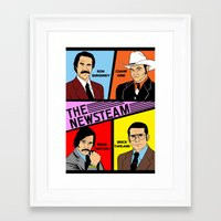 anchorman Framed Art Prints featuring The Newsteam - Anchorman by Buby87