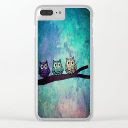 owl-46 Clear iPhone Case