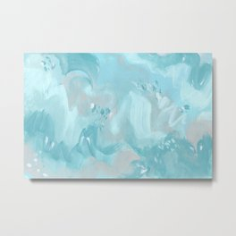 Abstract turquoise carnival Metal Print