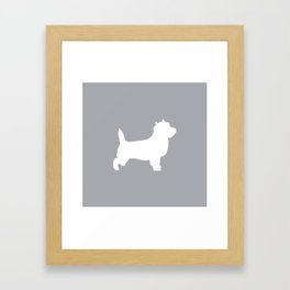 Cairn Terrier dog breed grey and white dog pattern pet dog lover minimal Framed Art Print