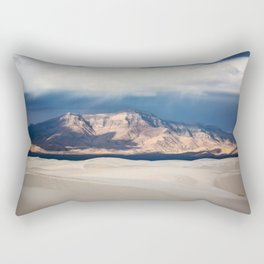 Sunlight on San Andres - Desert Scenery at White Sands New Mexico Rectangular Pillow