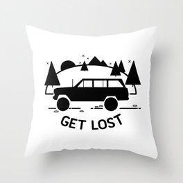 vintage four-wheel-drive buddy Throw Pillow