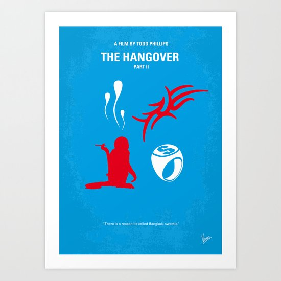 No145 My HANGOVER PART 2 minimal movie poster Art Print