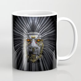 Hear Me Roar / 3D render of serious metallic robot lion Coffee Mug