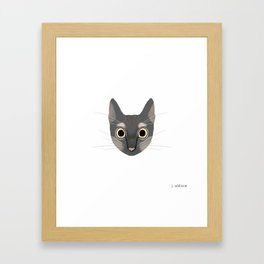 Hiccup the Cat Framed Art Print