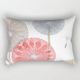 Red dandelions, watercolor Rectangular Pillow